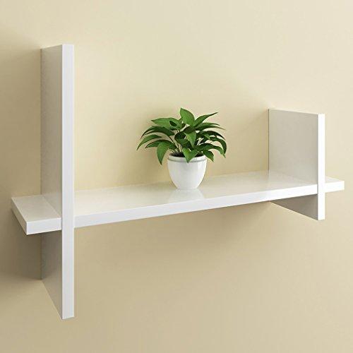 Wall Shelf, TV Wall Decoration Display, Living Room Wall Floating Rack, Storage Rack, 60cm 21cm 40cm (Color : White) by Boyang