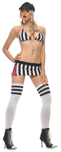 [Leg Avenue Women's Head Referee Costume, Black/White, Small/Medium] (Woman Referee Costume)