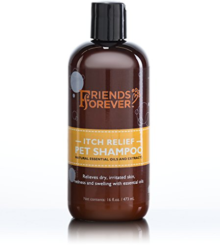 Antibacterial Deodorizing Coat Shampoo (Friends Forever Natural Dog Shampoo for Dry Itchy Skin - Oatmeal Aloe Vera Pet Shampoo For Dog Wash with Flaxseed, with Flax-seed Tea Tree and Lavender Oil)