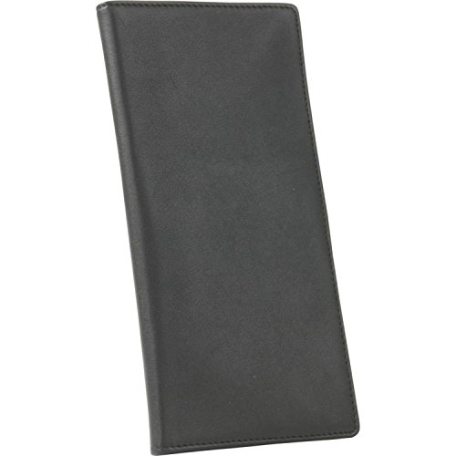 Royce Leather Passport Ticket Holder, Black, One Size