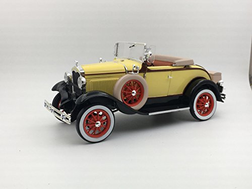 - 1931 Ford Model A Roadster Bronson Yellow 1/18 Diecast Model Car by Sunstar 6122