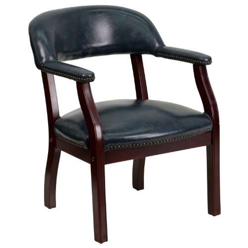 (Flash Furniture Navy Vinyl Luxurious Conference Chair - B-Z105-NAVY-GG)