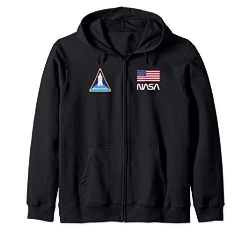 NASA Space Shuttle Challenger Crew logo Zip Hoodie