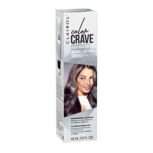 Clairol Color Crave Temporary Hair Color Makeup, Shimmering Platinum, 1 Count