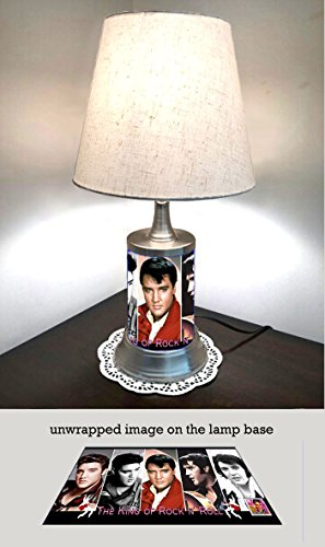 Elvis Presley Lamp with Shade, Collage
