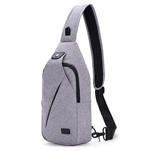 (TINYAT Sling Bag Pack, Chest Shoulder Crossbody Hiking Backpack Sport Bicycle Rucksack School Daypack for Men Women)