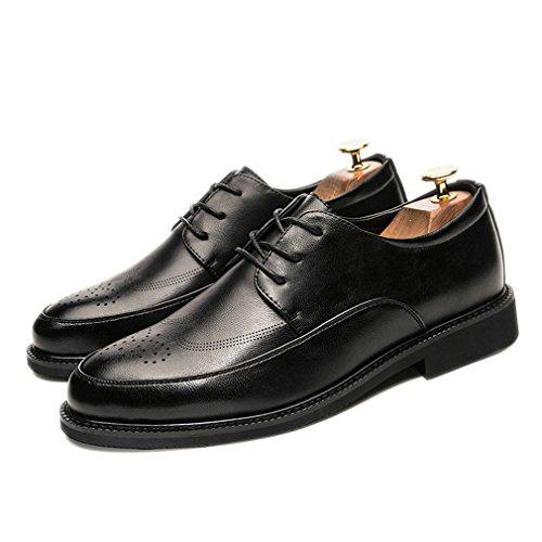 Xianshi uomo casual Lace-up accento scarpe Nero