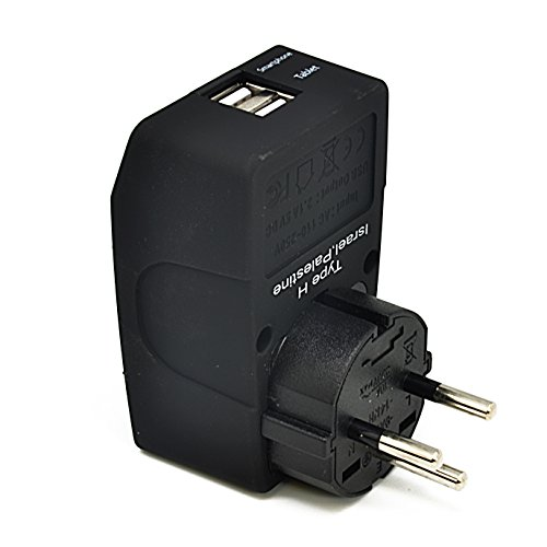 Ceptics Universal to Israel Travel Adapter Plug -Type H - 4