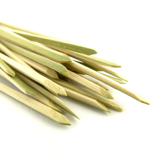 BambooMN 3.5'' Bamboo Green Knotted Knot Skewers Picks for Cocktails and Hors' D'oeuvres Party Supplies, 1000 Pieces by BambooMN (Image #4)