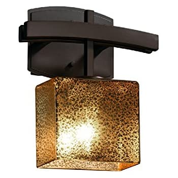 Justice Design Group Lighting FSN-8597-55-OPAL-DBRZ-LED1-700 Light Wall Sconce Dark Bronze