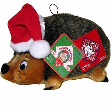- Outward Hound Kyjen  P01973 Hedgehog Holiday Dog Toys Plush Squeak Toy, Large, Brown