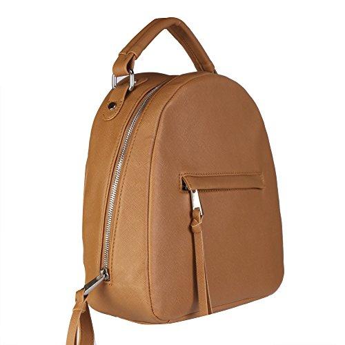 Kleio Elegant Brown Backpack