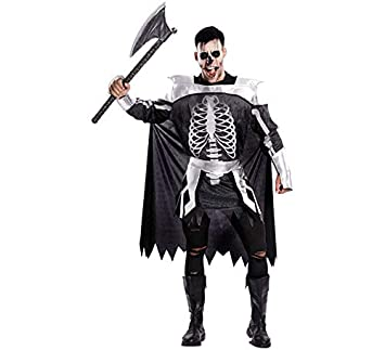 EUROCARNAVALES Disfraz de Caballero Medieval Esqueleto para Hombre ...
