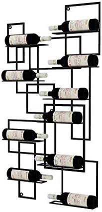 KXBYMX Vinoteca Hierro Colgante de Pared Vino Titular de Vidrio de Vino