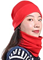 5d3a7c92c7c SUNMECI Neck Warmer - Fleece Neck Gaiter Winter Thicken Windproof Face Mask  Scarf for Skiing