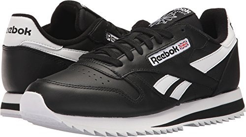Reebok Mens Cl Leather Ripple Low Bp Fashion Sneaker Nero / Bianco 2