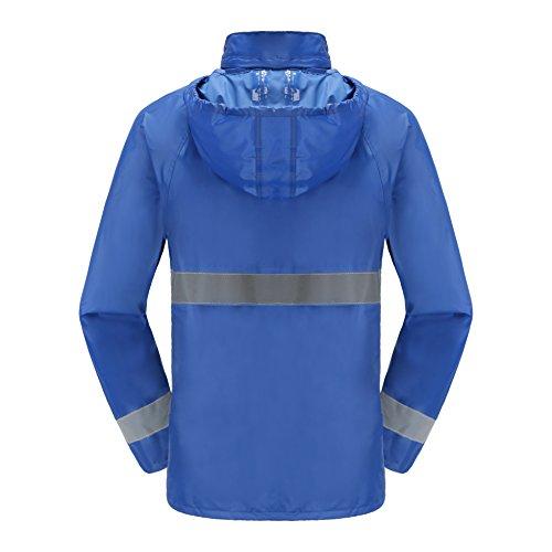 Maiyu Motorcycle Rain Suit Waterproof Rain Jacket and Pants Set 2 Piece Rain Gear For Adult