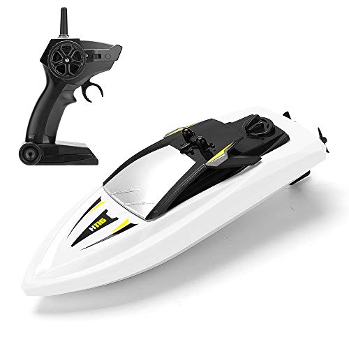 Remote Control Boats for Pools and Lakes, ROTOBAND RC Boat 2.4GHz 14km/h Mini Remote Boat Toys for Kids Adults Boys Girls (White)