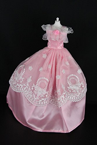 A Beautiful Pink Party Dress Made to Fit the Barbie Doll