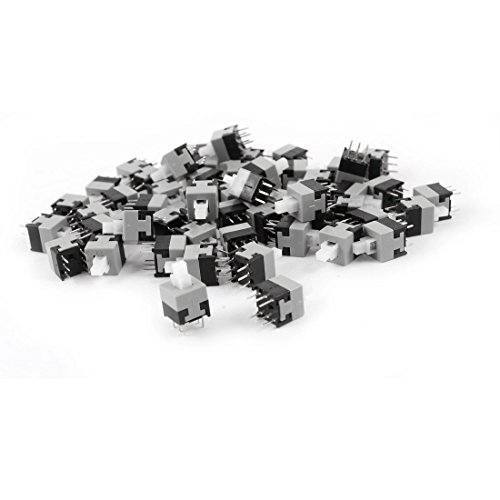 55pcs 6 Pin DPDT Momentary Power Micro Push Button Switches ()