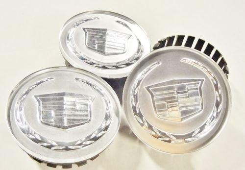 CADILLAC CTS STS DEVILLE DTS XTS XLR ATS POLISHED CENTER CAPS 2 (Cadillac Deville Center Caps)