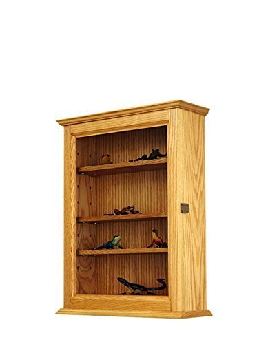 Curio Display Wall Cabinet- Oak Hardwood *Made in the USA*