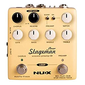 NUX Stageman Floor Acoustic Preamp/DI Pedal w...