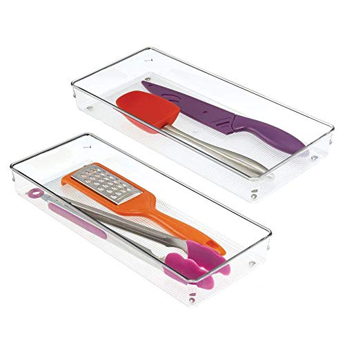 iDesign Linus Plastic Kitchen Drawer Organizer for Silverware, Spatulas, Cutlery, Gadgets, Office Supplies, Cosmetics…