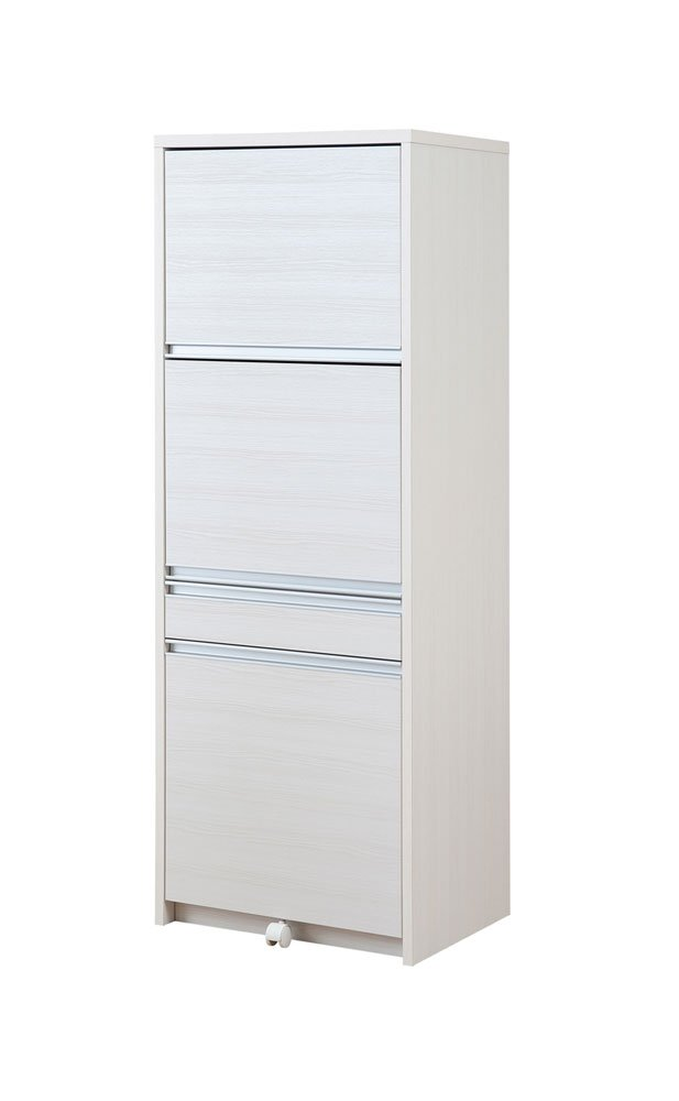 目隠し家電収納レンジ台 (ダストボックス付き) 高さ160.5cm レンジ台 レンジボード 食器棚 家電収納   B01HX7JEHM