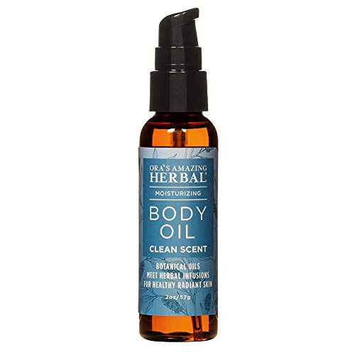 Natural Body Oil Moisturizer for All Skin Types, Sensitive Dry Skin, Eczema, Light Aromatherapy For Women And Men, Vegan Skincare with Organic Jojoba and Apricot Oil, Ora's Amazing Herbal