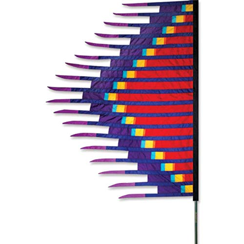 Premier Kites 23891 Grass Dance Feather Banner, 6-1/2 by 8-1/2-Inch, Red