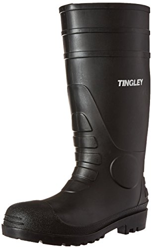 TINGLEY 31151 Economy SZ8 Kneed Boot for Agriculture, 15-Inch, Black (Best Farm Rubber Boots)