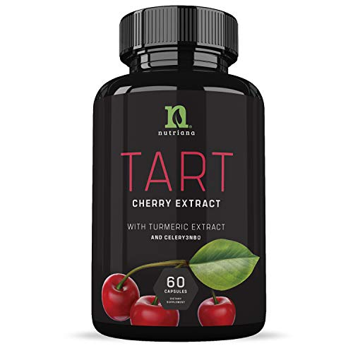 Tart Cherry Capsules with Celery Seed and Turmeric | Tart Cherry Extract 2500 mg | Uric Acid Cleanse Support, Joint Comfort and Muscle Recovery| Benefits of Tart Cherry Juice Concentrate - 60 Capsules ()