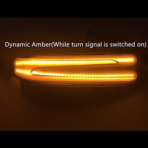 C E S Cla Gla CLS Class W176 W246 W204 W212 C117 X156 Lopbinte R/étroviseur de Voiture Indicateur LED Eau Dynamique Clignotant pour Mercedes