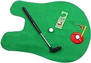 Golf Toy Set Toilet Game Golf Toy, Toilet Toy Golf Game Indoor Practice Mini Golf Gift Set Golf Training