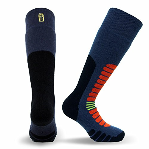 Eurosocks Board Zone Snowboarding Socks, Blue Storm, Medium (Medium Snowboarding)