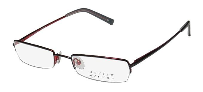 2146efd8a84 Andrew Actman Jordan Mens Womens Rx-able Rectangular Half-rim Eyeglasses  Glasses