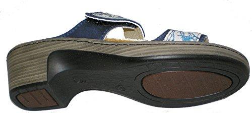 Algemare 6129-0427 Damen Pantolette Blau