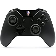 """""""American Skull"""" Xbox One Rapid Fire Modded Controller for COD BO3, MW Remastered, Ghosts, Destiny, GOW, Battlefield: Quick Scope, Drop Shot, Auto Run, Sniped Breath, Mimic, More (3.5 mm jack)"""