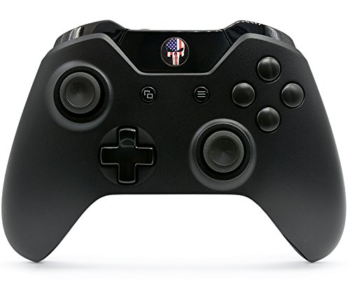 """""""American Skull"""" Xbox One Rapid Fire Custom Modded Controller 40 Mods for All Major Shooter Games, Auto Aim, Quick Scope, Auto Run, Sniper Breath, Jump Shot, Active Reload & More (3.5 mm jack)"""