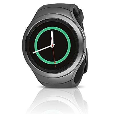 Samsung Galaxy Gear S2 Smartwatch SM-R730T (T-Mobile) with Large Rubber Band - Certified Refurbished (Dark Gray)