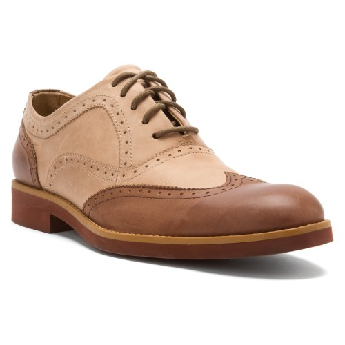 1883 by Wolverine Mens Horace Wing-Tip Brogue Oxford Taupe/Brown