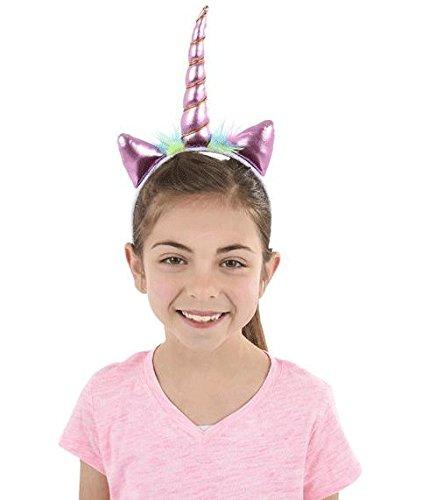 Metallic Unicorn Headbands - 12 ct