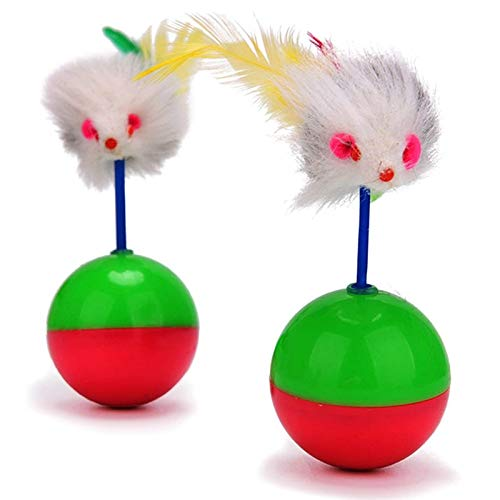 Amazon.com : Best Quality 2018 Durable pet cat Toys Mimi Favorite Fur Mouse Tumbler Kitten cat Toys Plastic Play Balls for Catch Cats Supplies : Pet ...