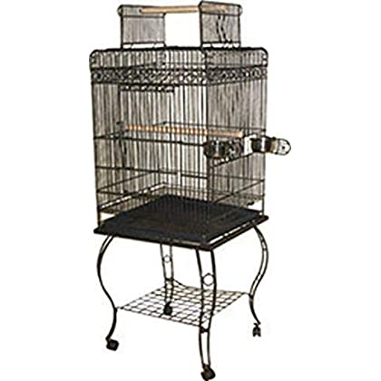 Image of Pet Supplies A&E Cage 600H Black Economy Play Top Bird Cage