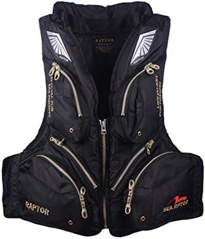 スポーツライフベスト 専用のライフジャケット多機能釣りスーツ大人マルチポケット浮力サバイバルベスト ユニセックス (色 : Black, Size : One size)