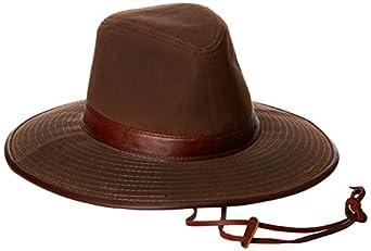 Dorfman Pacific Men S Oil Cloth Safari Hat With Leather