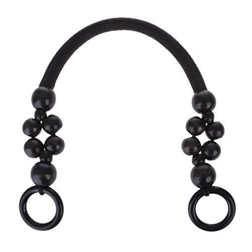 Cicitop Handbag Handles Wooden Beads Rope Bag Strap Purse Handles Bag Handle DIY Replacement for Handmade Bag ()