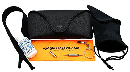 Eye-Max Leather Like Sunglasses case, Black, 1 pack, w/Accessories (Max Leather)