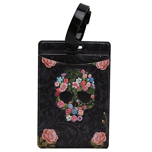 Coolrunner 3D Skull Series zipper coin purse small wallets mini change purse (Luggage Label)
